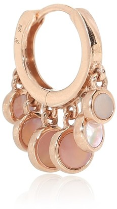Jacquie Aiche Disco Shaker 14kt rose-gold single hoop earring