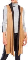 August Silk Double-Face Knit Vest