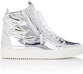 "Giuseppe Zanotti Men's ""Cruel"" Double-Zip Sneakers-SILVER"
