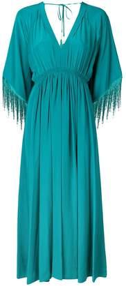 Forte Forte fringed sleeves midi dress