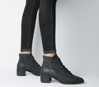 Office Accord Lace Up Boots Black Leather