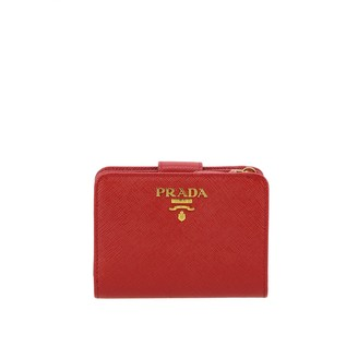 Prada Wallet In Saffiano Leather With Logo