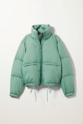 Weekday Hedda Puffer Jacket - Turquoise