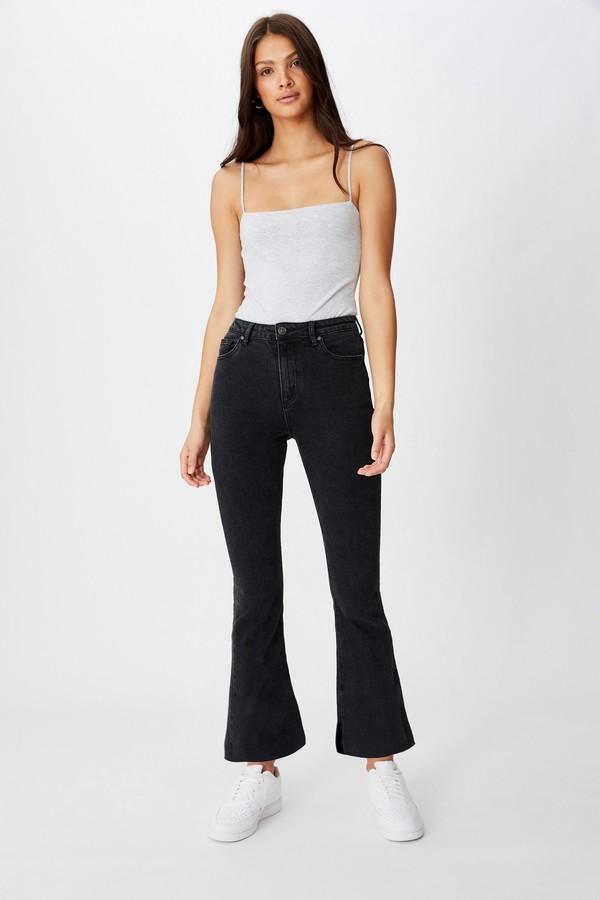 Supre Crop Kick Flare Jean