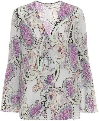 Etro Paisley silk blouse