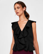 Ted Baker Ruffle front Vneck top
