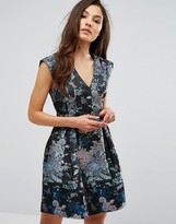 Oasis Butterfly Jacquard Skater Dress