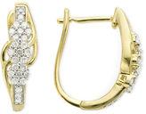 JCPenney FINE JEWELRY diamond blossom 1/4 CT. T.W. Diamond Cluster Earrings