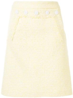 Paule Ka Tweed Pencil Skirt