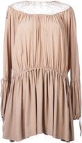 No.21 gathered detail dress - women - Silk/Acetate - 40