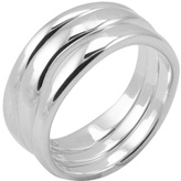 Barse Women's Sterling Silver Triple Set Ring SR3127