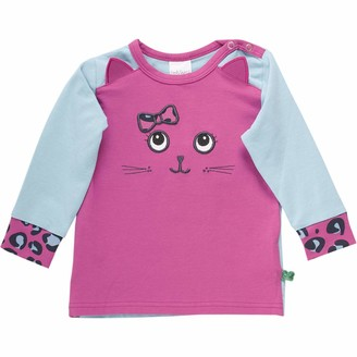 Green Cotton Fred's World by Baby Girls' Animal Front T Shirt
