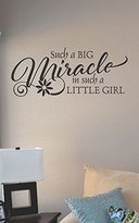 JS Artworks Such a big miracle in such a little girl Vinyl Wall Art Decal Sticker