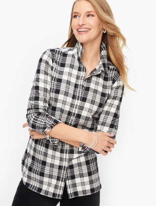 Talbots Classic Cotton Shirt - Casual Plaid