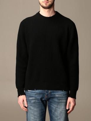 Laneus Crewneck Sweater With Breaks