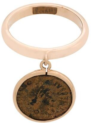 Dubini Emperor Coin 18kt rose gold flip ring