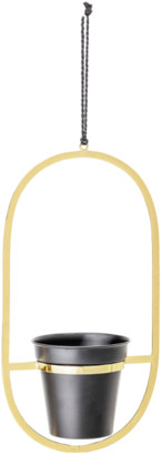Bloomingville - Gold and Black Hanging Planter - Gold