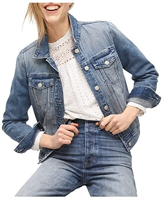 J.Crew Classic Denim Jacket in Brilliant Day Wash (Brilliant Day Wash) Women's Clothing