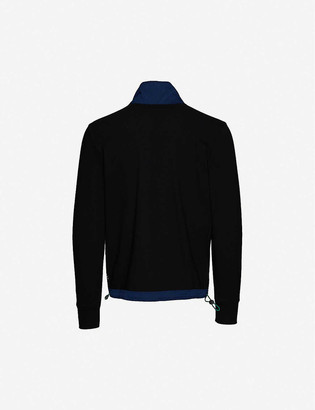 Paul Smith Zipped funnel-neck cotton and shell jacket