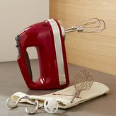 Crate & Barrel KitchenAid ® Empire Red 9-Speed Hand Mixer