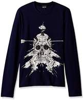 Just Cavalli Men's Skull Long Sleeve Tee