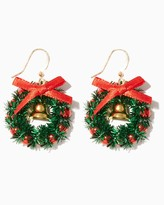 Charming charlie Tinsel Wreath Drop Earrings