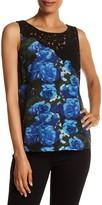 Plenty by Tracy Reese Asymmetrical Lace Yoke Silk Blouse