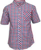 Ben Sherman Junior Boys Multi Coloured Gingham Poplin Shirt Red