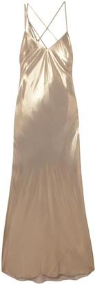 Mason by Michelle Mason Open-back Draped Leopard-print Silk-chiffon Gown
