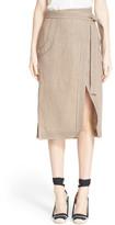 Altuzarra &Ronin& Contrast Stitch Linen Skirt