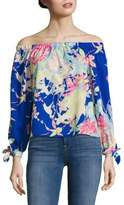 Yumi Kim Floral Printed Off-The-Shoulder Top