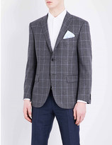Corneliani Leader-fit windowpane-print wool jacket