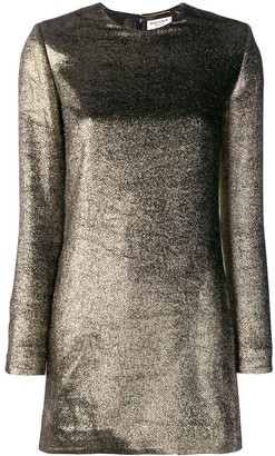 Saint Laurent Metallic mini dress