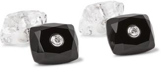 Trianon 18-Karat White Gold, Onyx, Crystal And Diamond Cufflinks