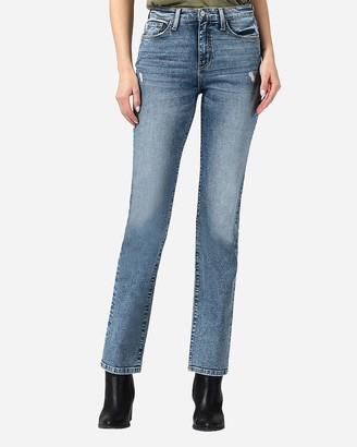 Express Flying Monkey High Waisted Slim Straight Jeans