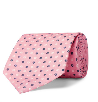 Emma Willis 9cm Floral Silk-Jacquard Tie