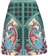 Mary Katrantzou Printed satin-twill skirt