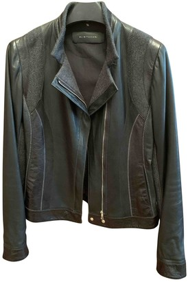 Elie Tahari Black Leather Jacket for Women