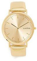 RumbaTime Women's 'SoHo Metallic Gold' Quartz Metal and Leather Watch, Color:Gold-Toned (Model: 26054)