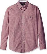 U.S. Polo Assn. Men's Gingham Check Long Sleeve Woven Shirt