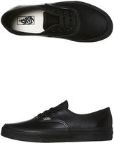 Vans Kids Authentic Leather Bts Shoe Black