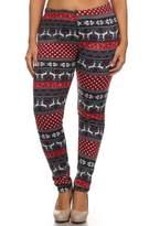 Leggings4U New Trendy American Plus Size Fur Lined Printed Cozy Leggings