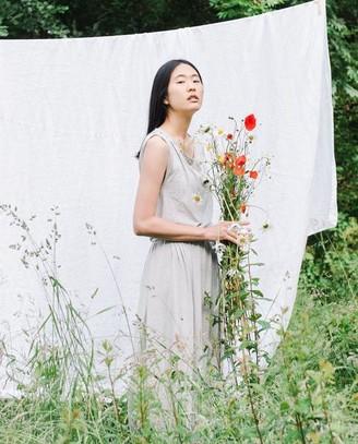 Beaumont Organic Mulberry Organic Cotton Dress In Light Grey Marl - Grey Marl / Small