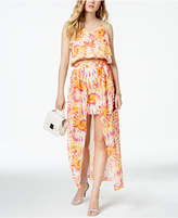 The Edit By Seventeen Juniors' Printed Chiffon-Overlay Skirt, Created for Macy's