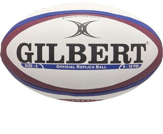 Gilbert Rugby Unisex Bordeaux Begles Replica Rugby Ball White/Red/Blue