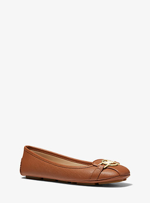 MICHAEL Michael Kors MK Tracee Saffiano Leather Moccasin - Luggage Brown - Michael Kors