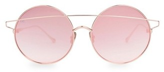 For Art's Sake Mykonos 60MM Round Bar Aviator Sunglasses