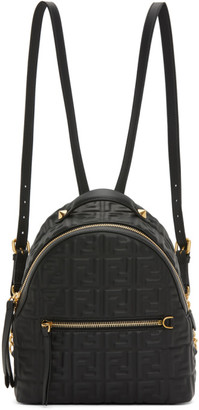 Fendi Black Mini Forever Backpack