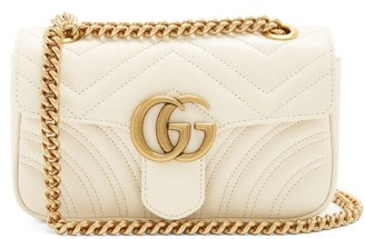 Gucci GG Marmont Mini Quilted-leather Cross-body Bag - Womens - White