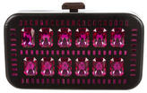 Devi Kroell Large Embellished Wooden Clutch